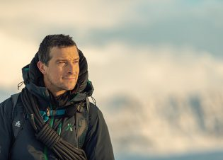 Iceland - Bear Grylls, of National Geographic's RUNNING WILD WITH BEAR GRYLLS, in Iceland. (National Geographic/Ben Simms)