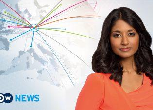 Englische Nachrichtensendung der Deutschen Welle: DW-News. Moderatorin Sumi Somaskanda